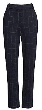 Theory Women's Straight Leg Check Pants