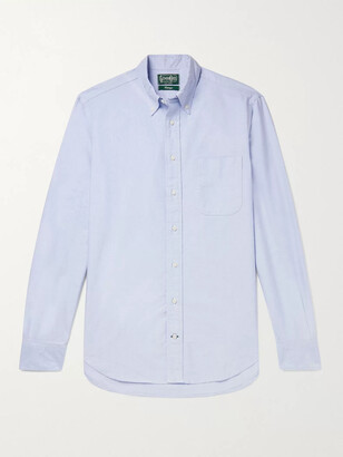 Gitman Brothers Button-Down Collar Cotton Oxford Shirt - Men - Blue