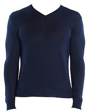 Eleventy Men's Fine Gauge V-Neck Sweater