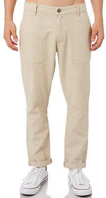 rhythm New Men's Linen Mens Pant Cotton Linen Natural