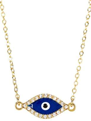 Sterling Forever Delicate Evil Eye CZ Necklace $54 thestylecure.com