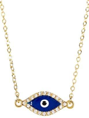 Sterling Forever Delicate Evil Eye CZ Necklace