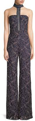 Jay Godfrey Women's Herron Embroidery Jumpsuit