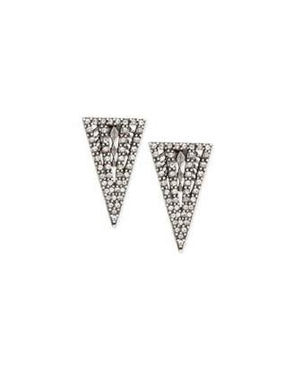 Lulu Frost Lucent Crystal Triangle Stud Earrings $163 thestylecure.com