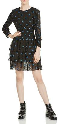 Maje Rocko Floral Embroidered Dress
