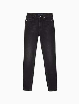 Calvin Klein CKJ 010 skinny high rise denver black jeans
