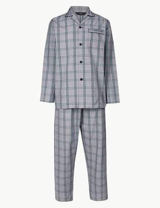 M&S CollectionMarks and Spencer Cotton Blend Checked Pyjama Set