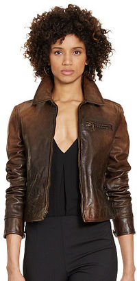 Polo Ralph Lauren Distressed Leather Jacket $1,298 thestylecure.com