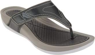 Dansko Leather Adjustable Thong Sandals - Katy