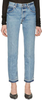 Helmut Lang Blue Straight Jeans