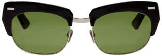 Acne Studios Black and Silver Isabella Sunglasses