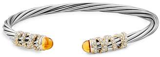 David Yurman Helena End Station Bracelet with Citrine, Diamonds and 18K Gold
