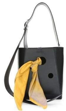 Calvin Klein Small Smooth Leather Bucket Bag