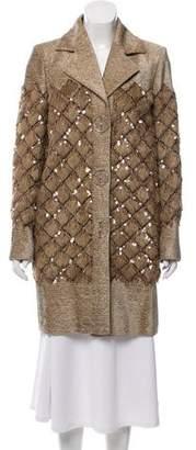 Chanel 2017 Paris-Cosmopolite Faux Fur-Trimmed Jacket w/ Tags