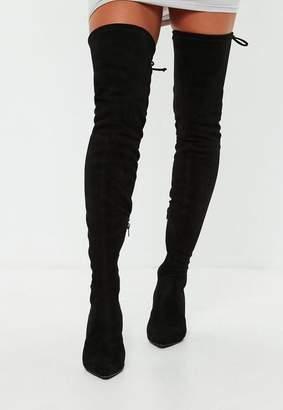 Missguided Black Kitten Heel Boots