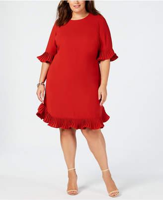 Alfani Plus Size Ruffle-Trim Dress, Created for Macy's