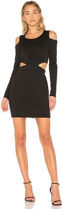 Bobi BLACK Cut Out Mini Dress