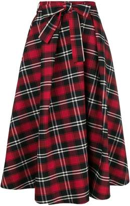 MSGM checked midi skirt