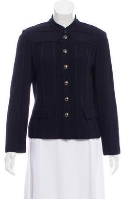 St. John Rib-Knit Button-Up Cardigan