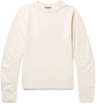 Burberry Jacquard-Knit Merino Wool and Cashmere-Blend Sweater