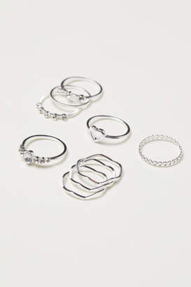 H&M 9-pack Rings - Silver