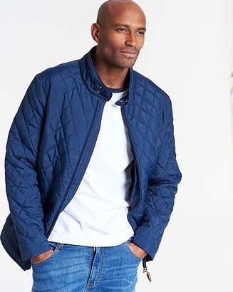 Jacamo Navy Quilted Jacket Regular