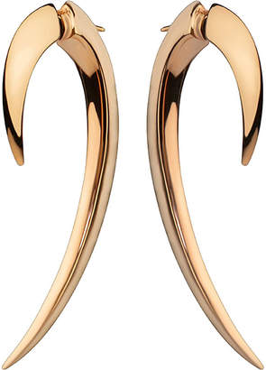 Shaun Leane Silver and rose gold-plate hook earrings size 1, silver