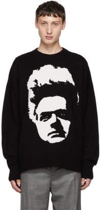 Christian Dada Black Wool Big Face Sweater