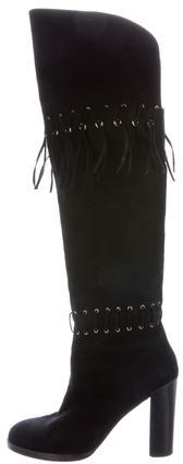 Rebecca MinkoffRebecca Minkoff Fringe-Trimmed Knee-High Boots