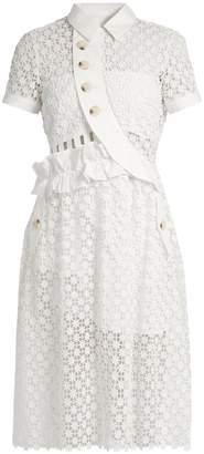 SELF-PORTRAIT Open-back guipure-lace midi dress