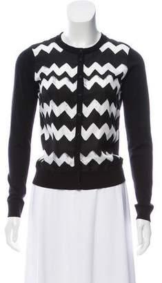 Paule Ka Printed Knit Cardigan
