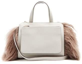 Valextra Passepartout Medium Leather Bag - Womens - Light Grey