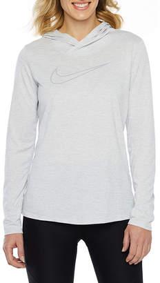 Nike Womens Hooded Neck Long Sleeve T-Shirt