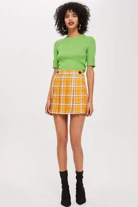 Topshop Summer check kilt mini skirt