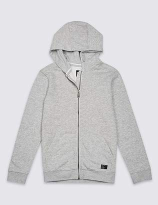 Marks and Spencer Zipped Through Hooded Top (3-16 Years)