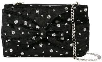 Christian Siriano embellished velvet crossbody bag