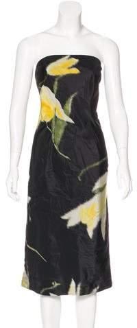Ralph Lauren Printed Strapless Dress
