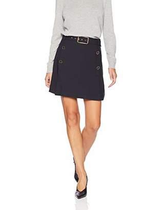 J.o.a. Women's Button Front Mini Skirt