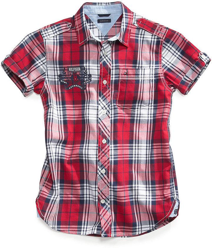 Tommy Hilfiger Shirt, Little Boys Tristan Plaid Shirt