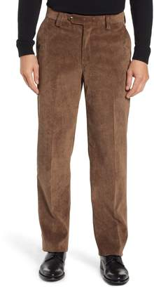 Berle Classic Fit Flat Front Corduroy Trousers