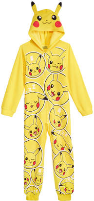 Pokemon Ame Big Boys One-Piece Pajamas