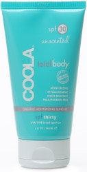 Coola TotalBody SPF 30 Unscented organic moisturizing suncare