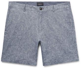 Club Monaco Baxter Slim-Fit Stretch Linen And Cotton-Blend Shorts