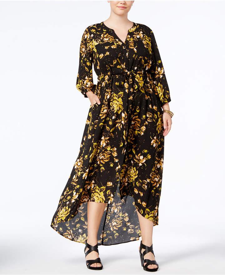 Melissa McCarthy Trendy Plus Size High-Low Maxi Dress