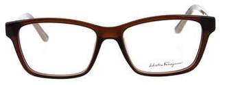 Salvatore Ferragamo Oversize Logo Eyeglasses w/ Tags