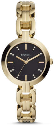 Fossil Kerrigan Three-Hand Gold-Tone Stainless Steel Watch