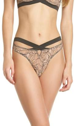 ELSE Bohemian Cross Front Thong