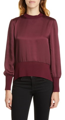 Ted Baker Wyonia Knit Trim Blouse
