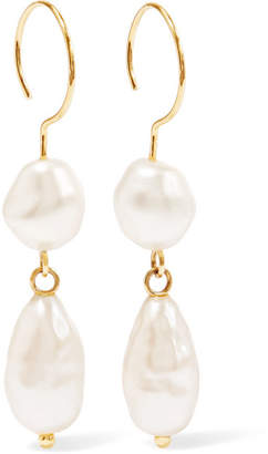 Beaufille - Baroque Gold-plated Faux Pearl Earrings