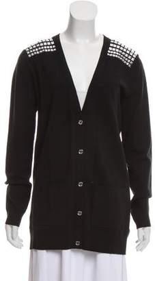 MICHAEL Michael Kors Embellished V-Neck Cardigan